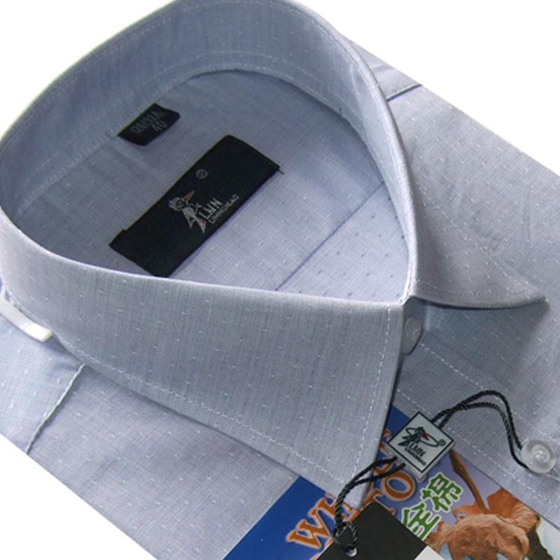 春装正品法国啄木鸟长袖衬衫男士商务休闲纯棉免烫衬衣纯色男衬衫