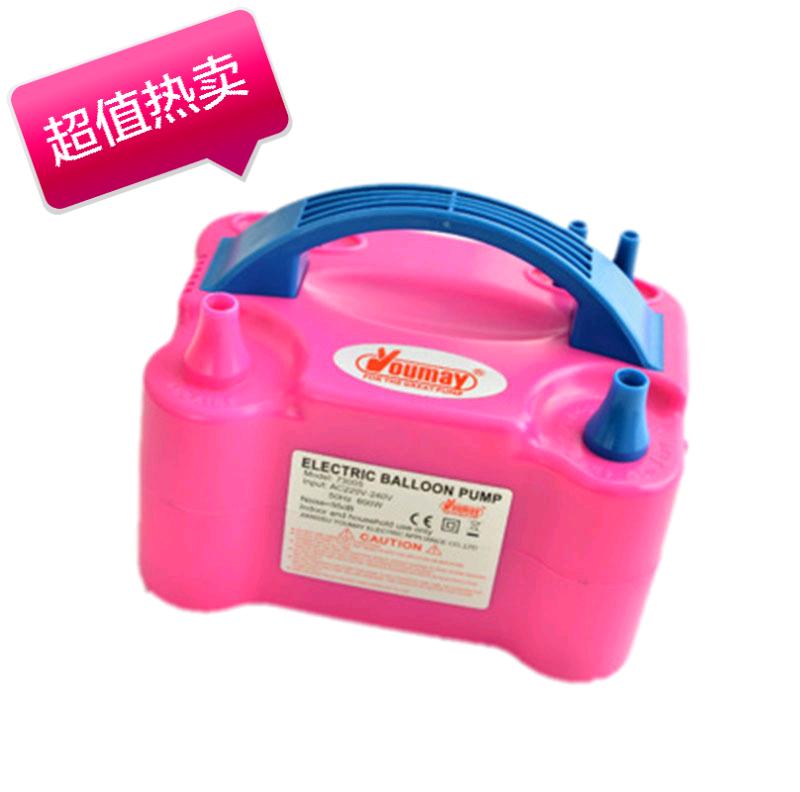 气球电动充气机 电动打气筒 气球充气泵 双孔气球充气机73005