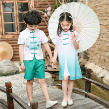 Sixty-one Children's Performing Dresses Boys'Han Dresses' Antique Dresses Girls'Chinese Style Performing Dresses Children's Day National Chorus Dresses
