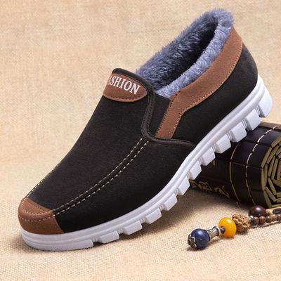 老北京布鞋男冬季加绒中老年棉鞋