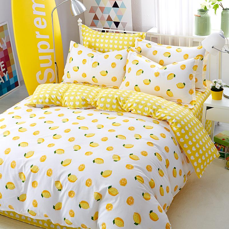 全棉斜纹四件套纯棉床单被套1.8米学生宿舍单双人床上用品