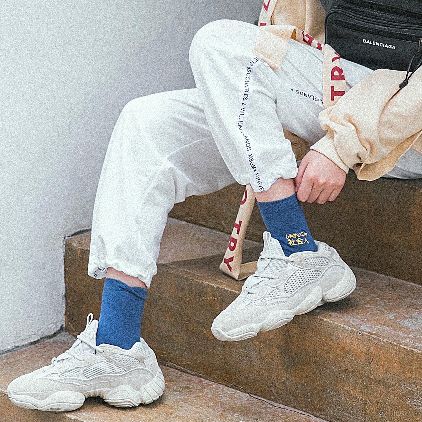 女袜子个性中筒袜韩版学院风搞怪百搭长袜运动袜纯棉日系网红潮袜