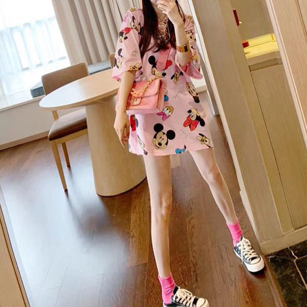 2020年春季女装新款韩版情侣夏装小众设计感网红米奇上衣短袖t恤图片