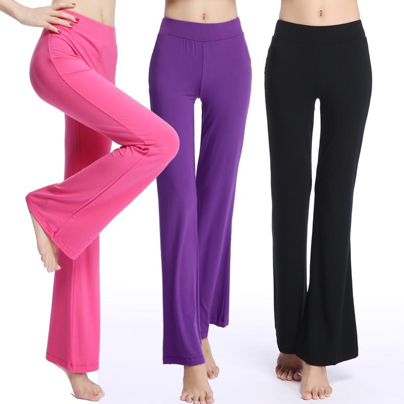 新商品のラッパズボンは春秋モーダルの舞踊のズボンの女性式のまっすぐな筒のズボンの小さいラッパのゆったりしています。