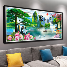 Diamond Paintings Full of Drilling New Styles and Master Hing Living Room 2018 Cross Embroidery 5D Bonded Brick and Stone Paintings 2019