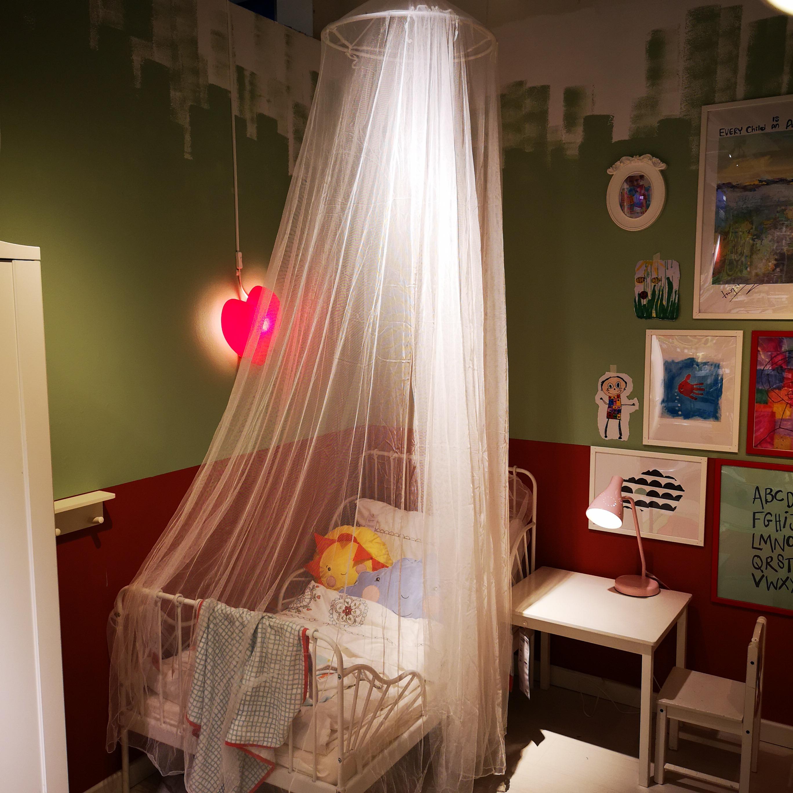 ?#24605;夜?#20869;代购布莱恩 蚊帐空调蚊帐白色圆吊顶蚊帐可拆卸清洗