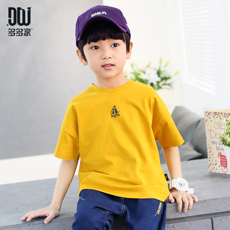多多家童装男童半袖t恤衫夏装2018新款7中大儿童韩版短袖纯棉体恤