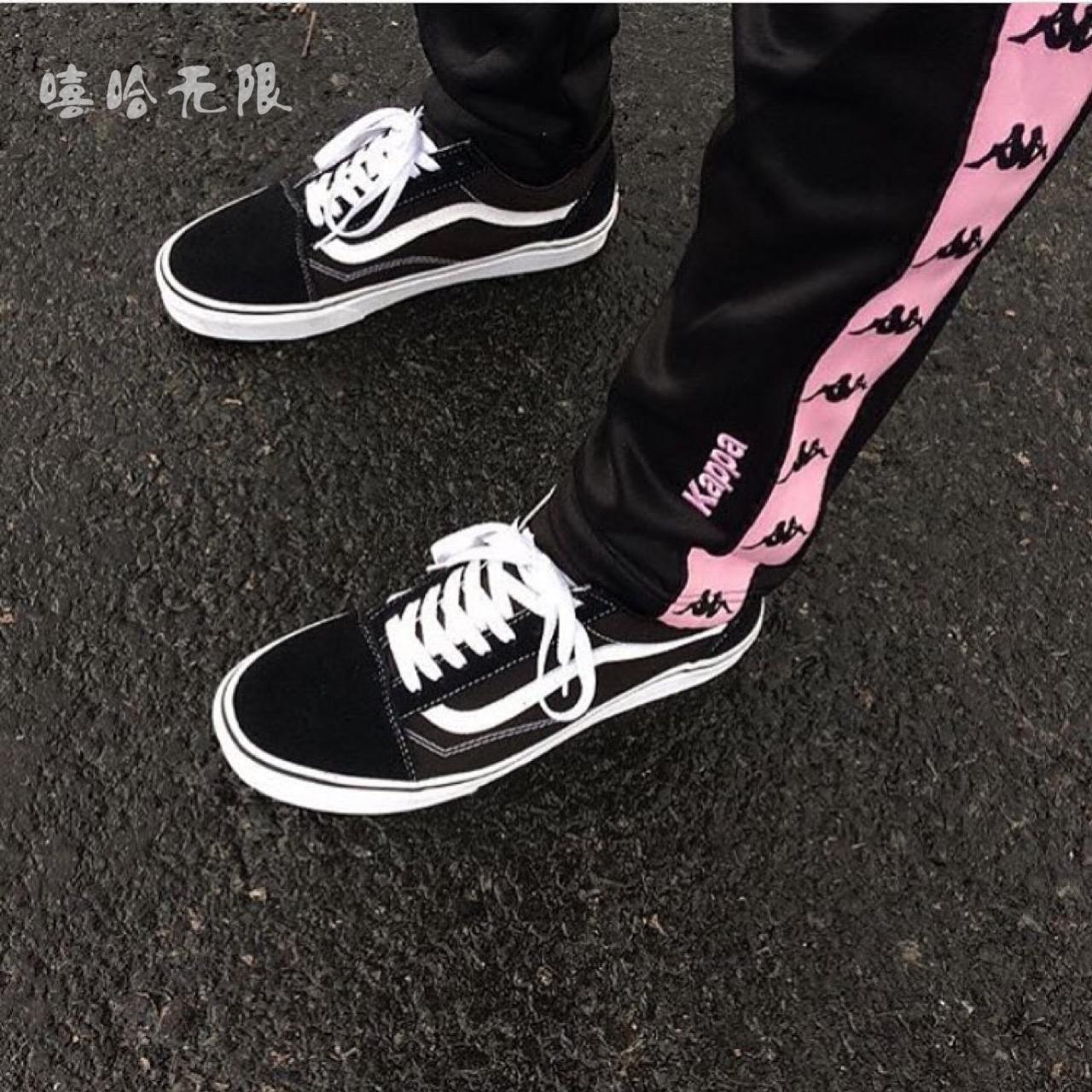 VANS高帮SK8-HI低帮OS黑色经典款帆布鞋男女鞋VN-0D3HY28
