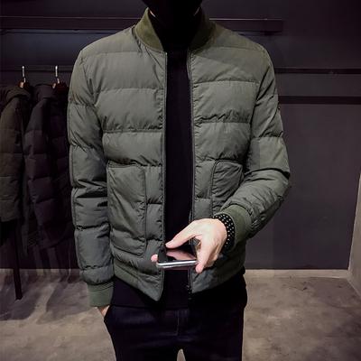 M8804#冬季男士精品韩版修身立领棉衣外套 潮男棉服 P135
