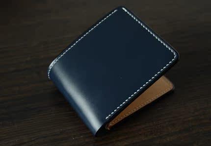 Zhuo手工皮具 纯手工英国马具皮 马缰皮 钱包短夹 商务钱包