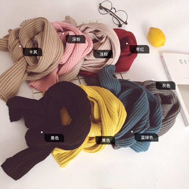 糖果爷爷男女童秋冬款棉毛线针织围巾儿童宝宝0-3岁保暖绕脖围脖