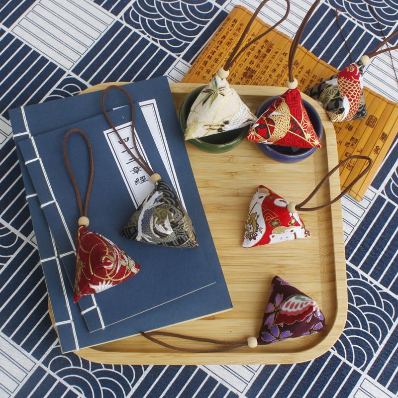 端午节香包香囊diy材料包汽车艾草粽子三角香包定制定做香囊成品