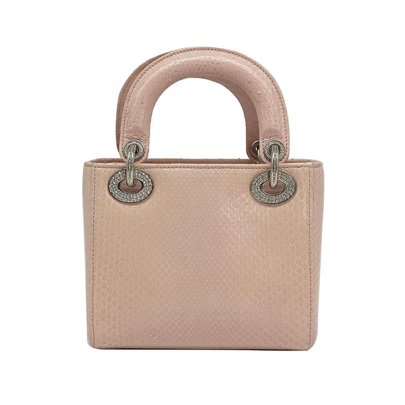 17598.90元包邮闲鱼优品 迪奥Dior 99新 限量版钻扣蛇皮戴妃包