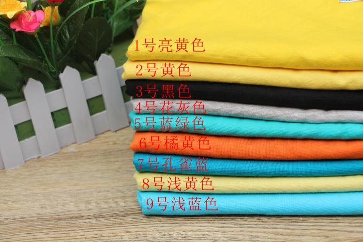 全棉莱卡氨纶汗布 纯棉弹力针织布料 夏季短袖T恤内衣无荧光剂