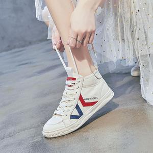 软底小白鞋女真皮2021夏季新款板鞋透气运动鞋百搭女鞋高帮休闲鞋