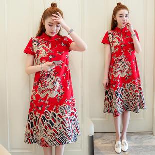 2020夏装新款中国风文艺连衣裙子