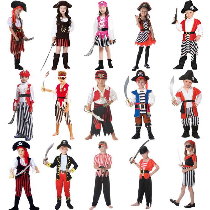 Childrens pirate costume ball shows costumes boys and girls, Pirates of the Caribbean Captain