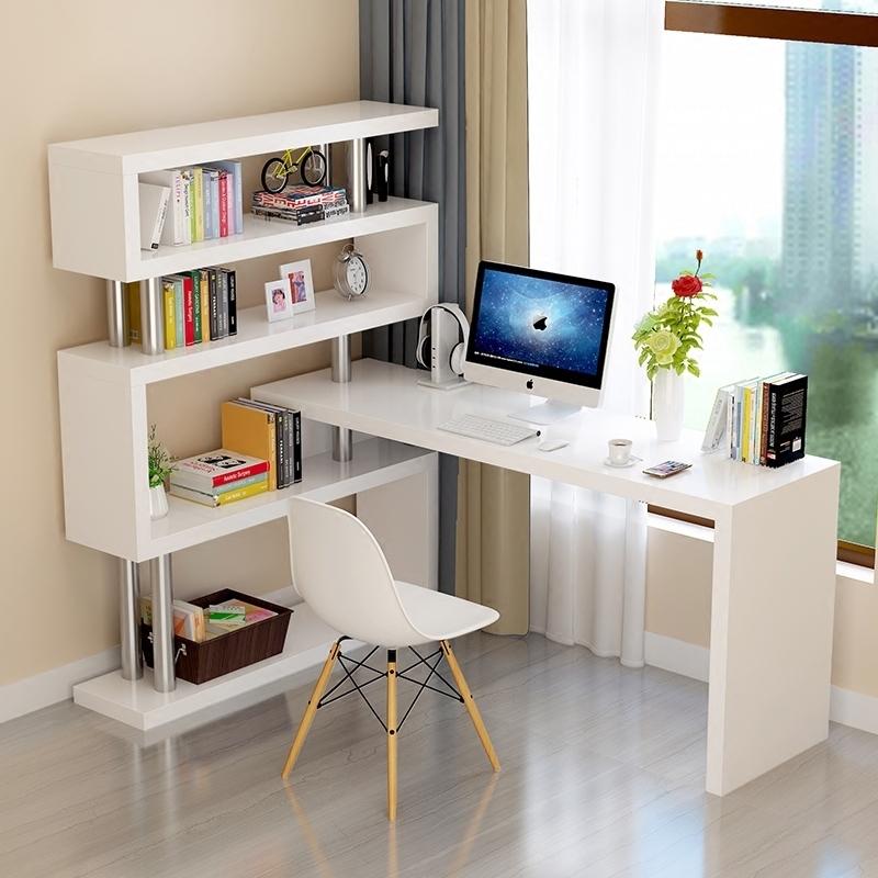 旋转转角一体家用办公桌子电脑桌
