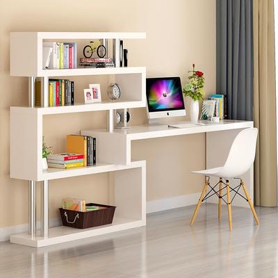 Corner desk bookcase combination home computer desktop desk children's economical white bookcase one bedroom