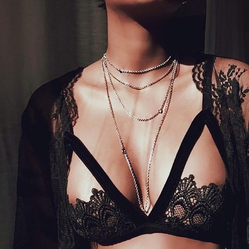 力推 黑色性感新品 brlette爆款镂空宽边蕾丝内衣夏季海边比基尼