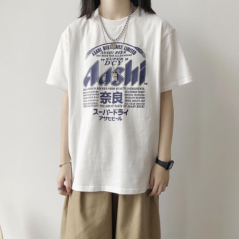 19ss日系印花短袖美式街头原宿t恤12月03日最新优惠