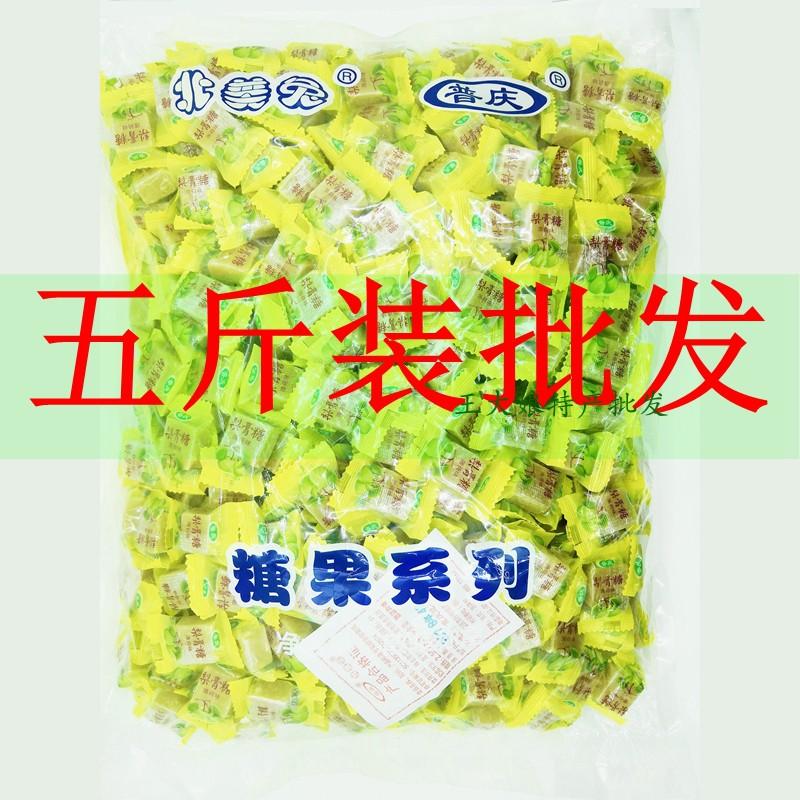 五斤装 百草梨膏糖薄荷丁块薄荷棍 润喉独立包装散装糖果批发冠喜假一赔十