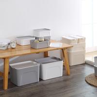 收納箱衣服玩具整理箱塑料有蓋家用衣物儲物盒子特大號清倉三件套