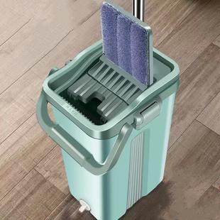 免手洗抖音拖把家用刮刮乐拖把桶办公懒人平板加厚刮刮乐拖地神器