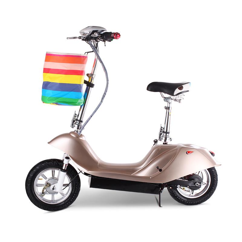12寸女士迷你电动车豚电动滑板车电动自行车折叠小型电瓶车代步车
