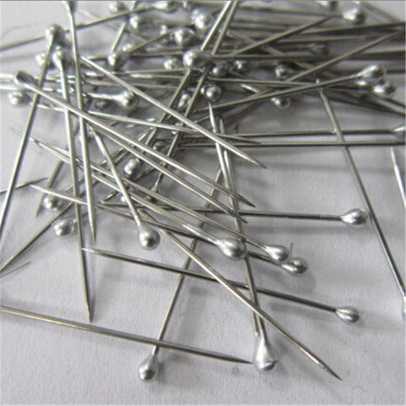 日本进口立裁专用珠针大头针衬衣定位针不锈钢做主线小头别针30枚