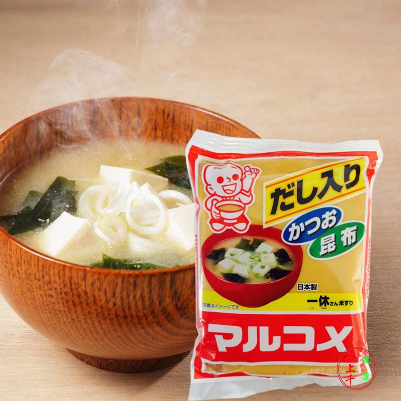 日本原装进口 丸米一休味噌 白味增酱昆布味增汤调味酱料300g包邮
