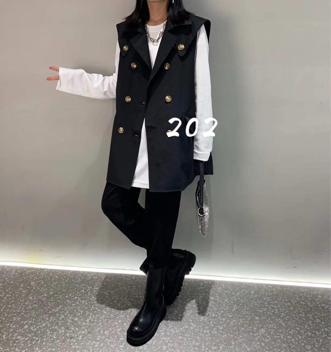 Denim vest summer thin womens Korean version loose jacket sleeveless cantilevered jacket over a versatile short jacket jacket