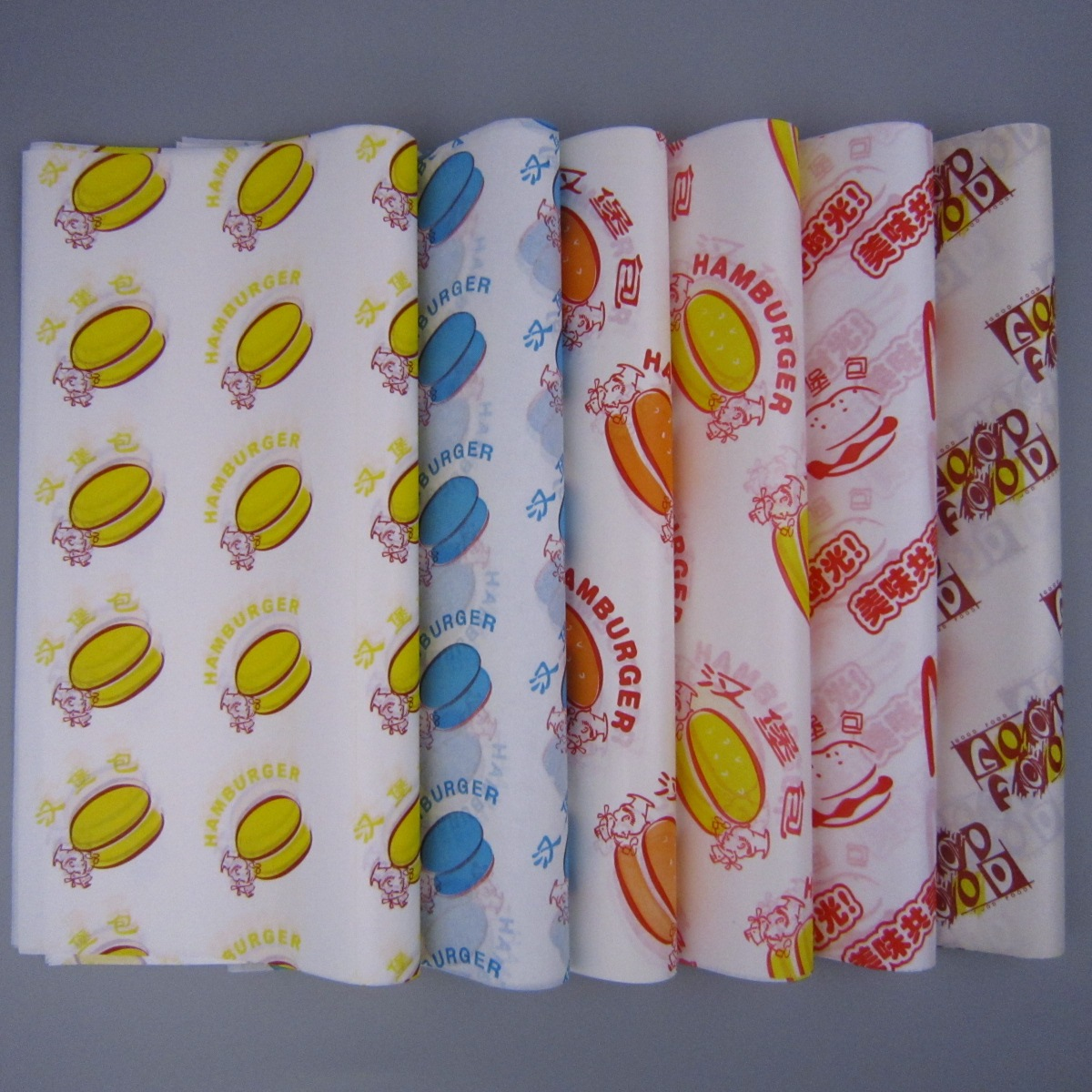 Бумага для гамбургера Бумага для бумажных мешков Бумажный мешок с маслом пакет Загрузка 900 листов