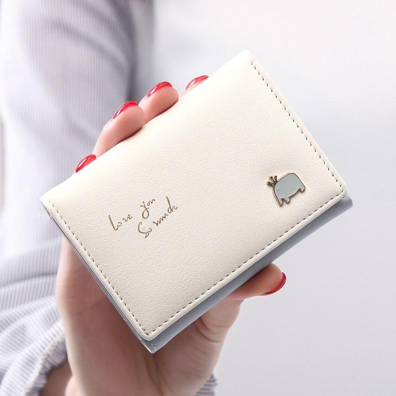 新款女士钱包女短款日韩版可爱零钱包小清新简约迷你卡通学生卡包