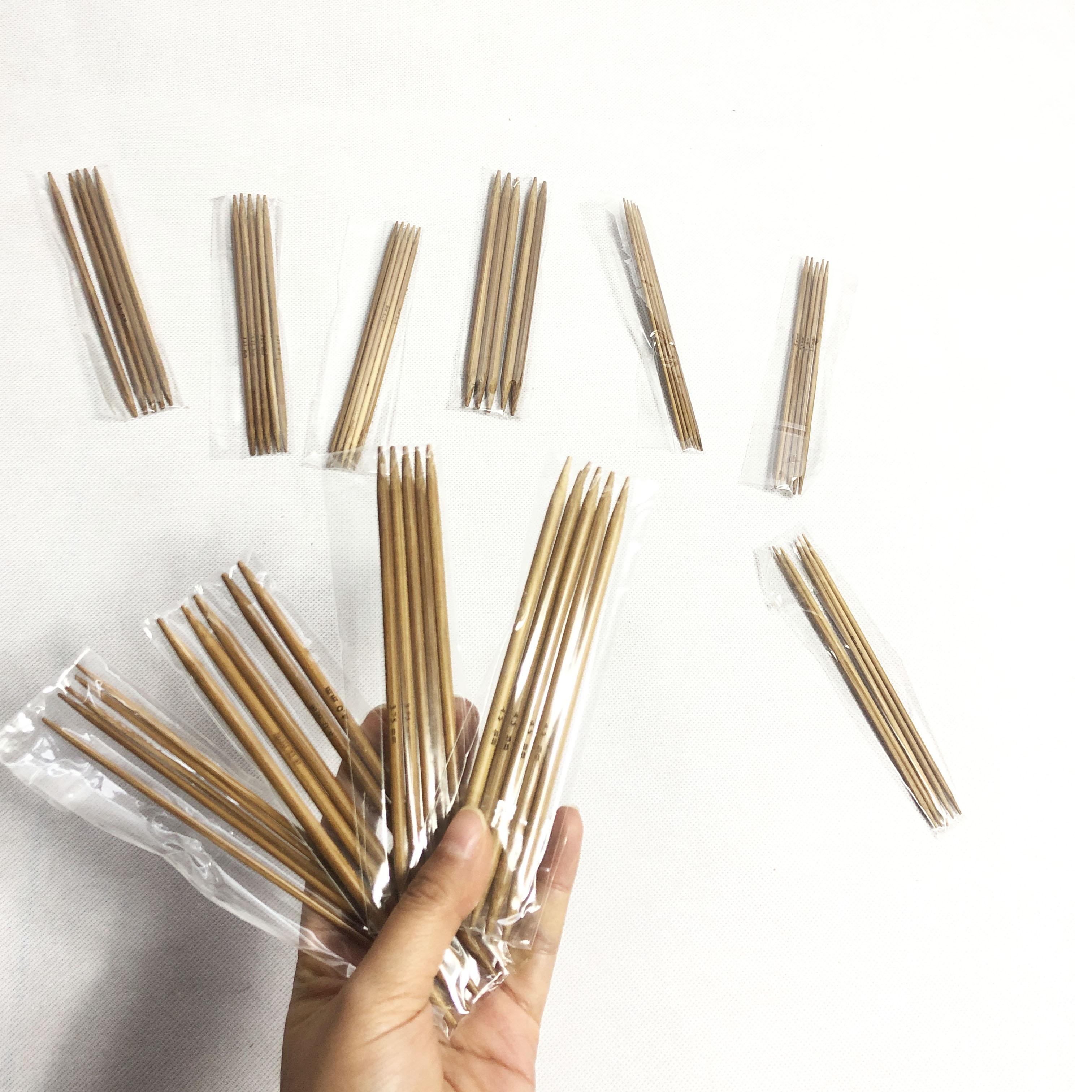 15-35 cmの長い中国標準セーター炭化竹針毛糸のまっすぐな針のセットはマフラーの帽子のツールの針を編みます。
