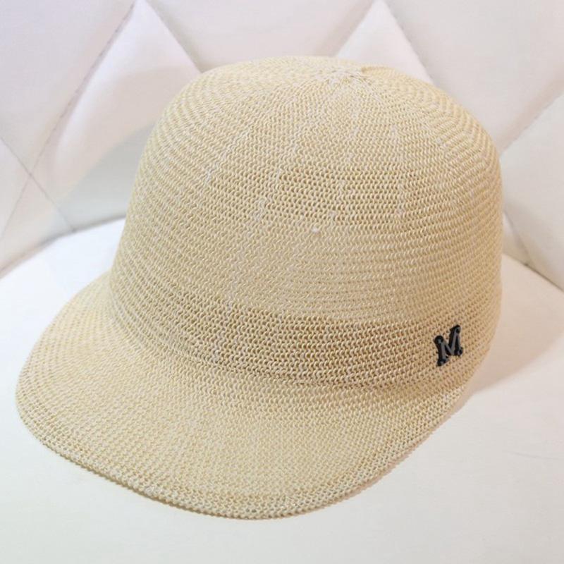 帽子女春夏季草帽遮阳帽青年骑士帽马术帽男士透气棒球帽鸭舌帽子