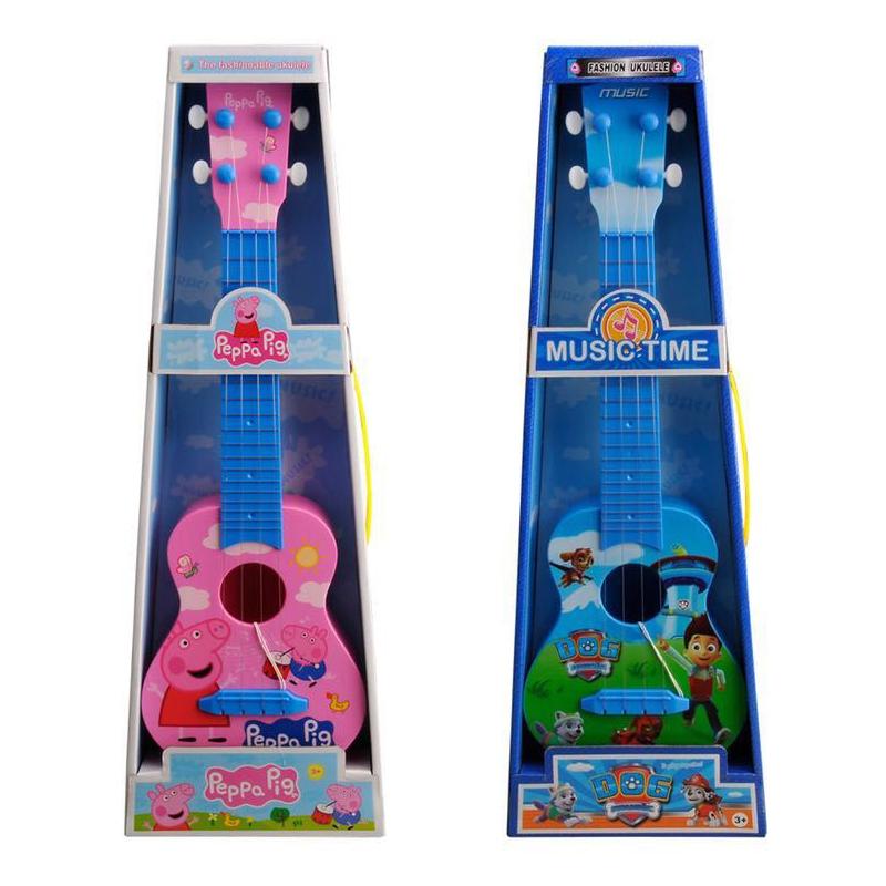 Ребенок гитара игрушка может бомба играть особенно керри в мини музыкальные инструменты 45cm четыре Hyun моделирование мультфильм собака собака свинья инжир