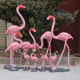 玻璃钢雕塑仿真火烈鸟摆件大户外花园庭院店铺婚庆礼道具装饰动物