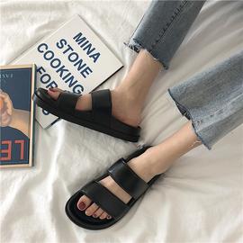 港风拖鞋女夏天复古外穿原宿ulzzang休闲平底鞋学生沙滩鞋凉鞋潮图片