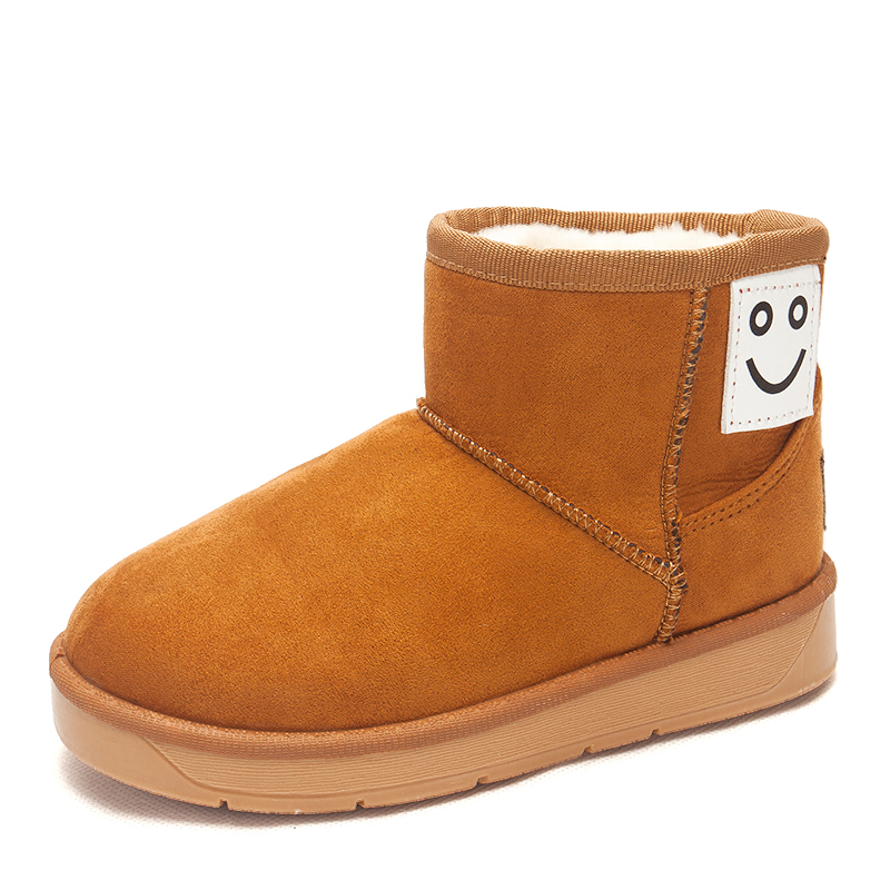 2016 保暖兒童雪地靴 加絨加厚男童短靴女童靴子短筒