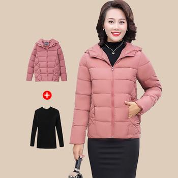 中老年女冬装外套中年40岁50棉服2018新款洋气小棉袄妈妈棉衣短款