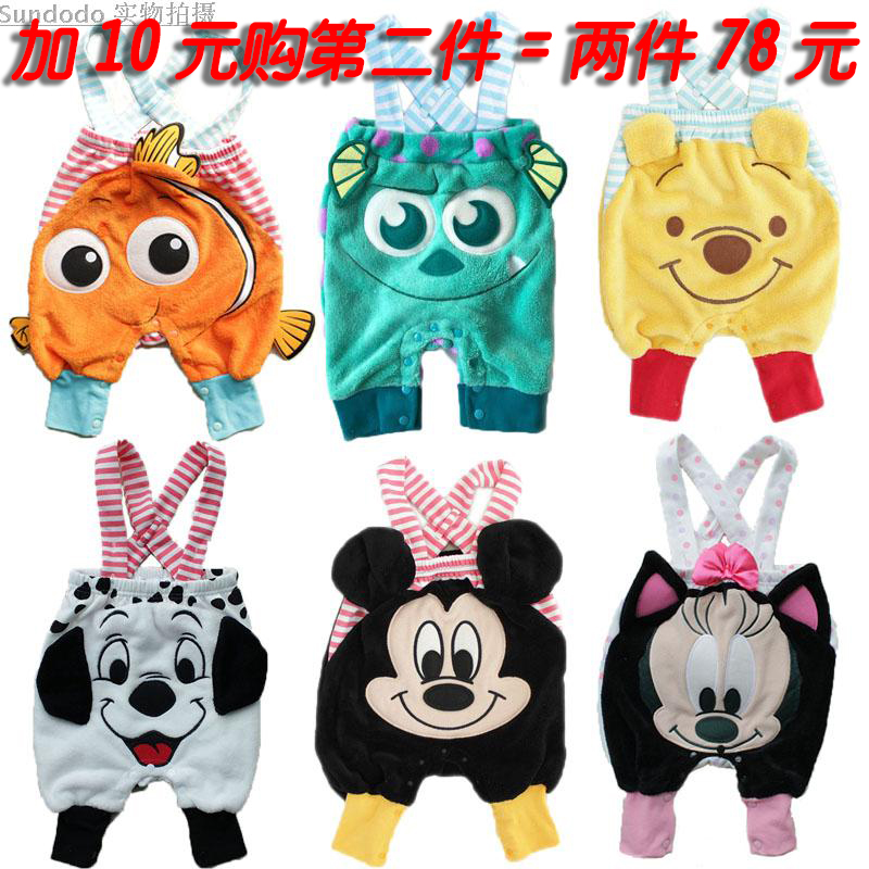 Childrens suspenders, baby spring and autumn casual pants, cartoon pants, childrens jumpsuit, spring and autumn Capris