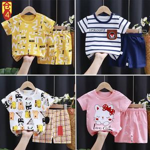 短袖婴幼儿套装韩版男女童宝宝t恤