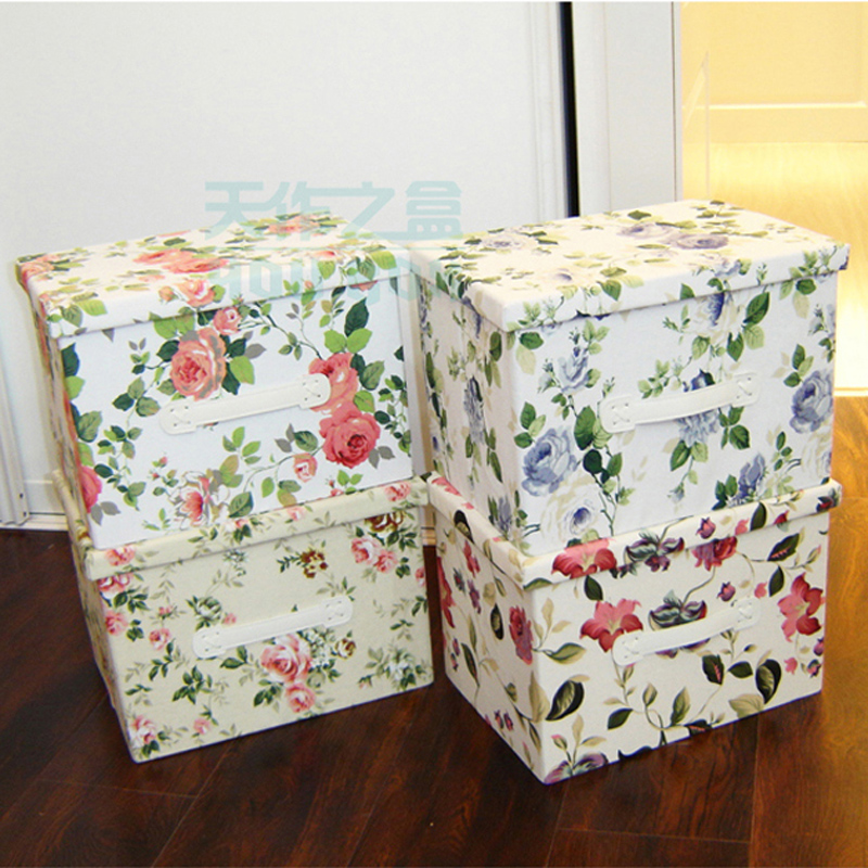 Canvas packing case fabric storage box extra large capacity thickened folding clothes storage box for toys