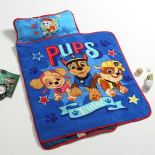 珊瑚绒盖毯午睡垫 幼儿园中号午睡垫 一体便携式睡袋