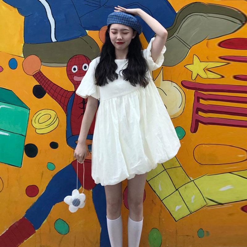 仙女超仙森系连衣裙2019新款宽松显瘦小个子娃娃短裙夏季流行裙子券后54.98元