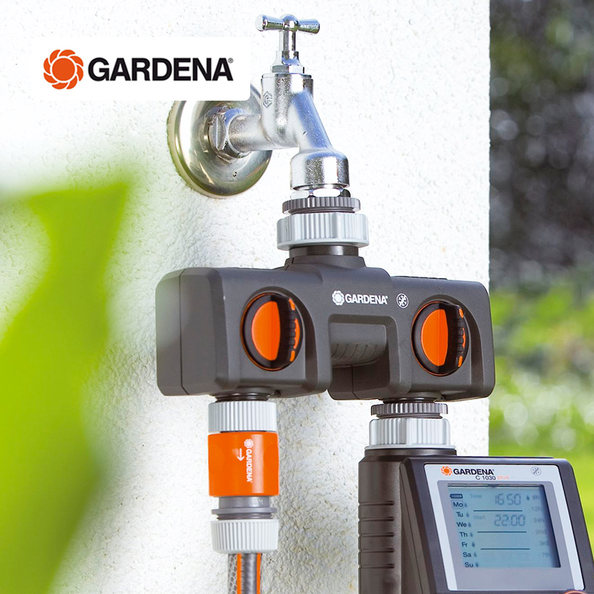 Германия импортировала GARDENA Jiadinga двойной водопроводный источник воды двухсторонний расходомер потока