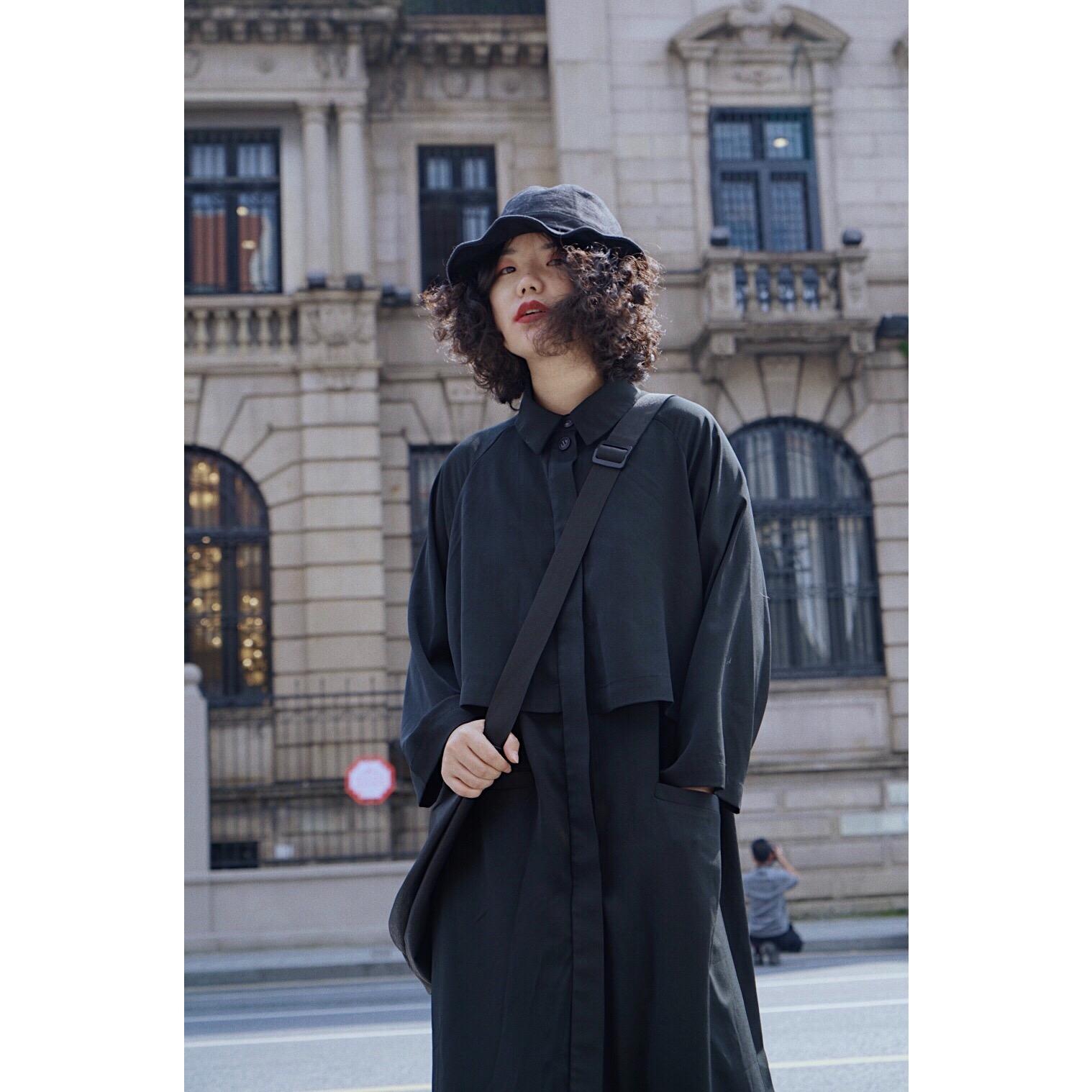 牧师的裙装|化学少女yohji风复古黑色山本风连衣裙小众设计感日系