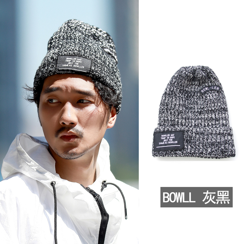 Korean knitted hat fashion brand cold hat mens winter street womens winter condom lovers thickened Korean wool hat