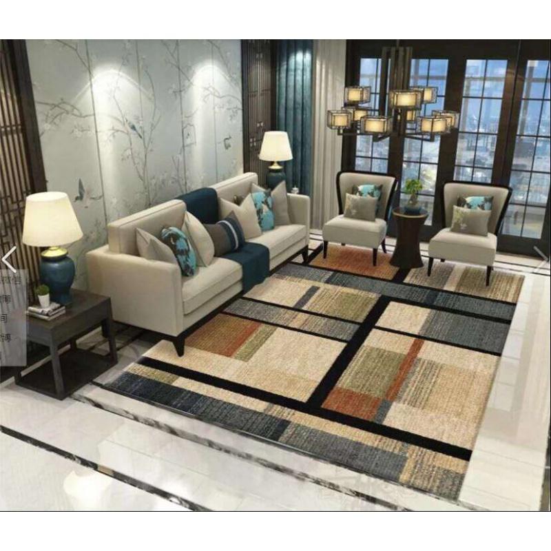 地毯客厅现代简约家用沙发茶几地毯几何北欧长方形美式定制可机洗